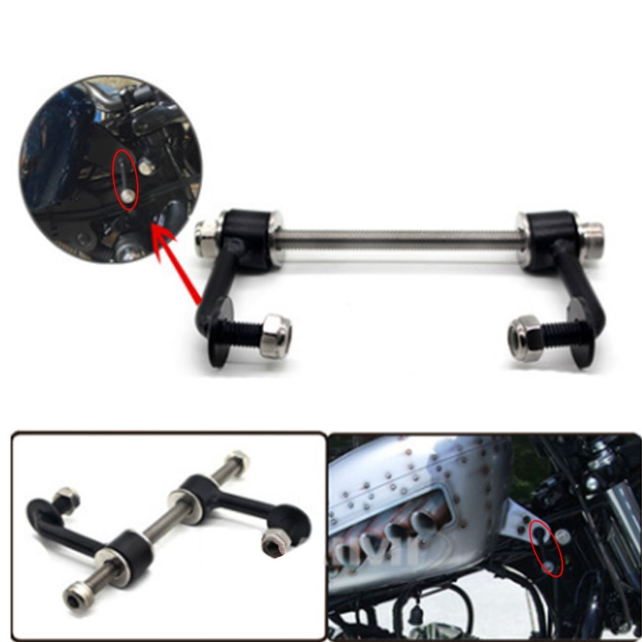 Durable 2' Tank Lift Kit for Harley Sportster Irons 883 XL Nightsters 1995-UP BOXWELOVE