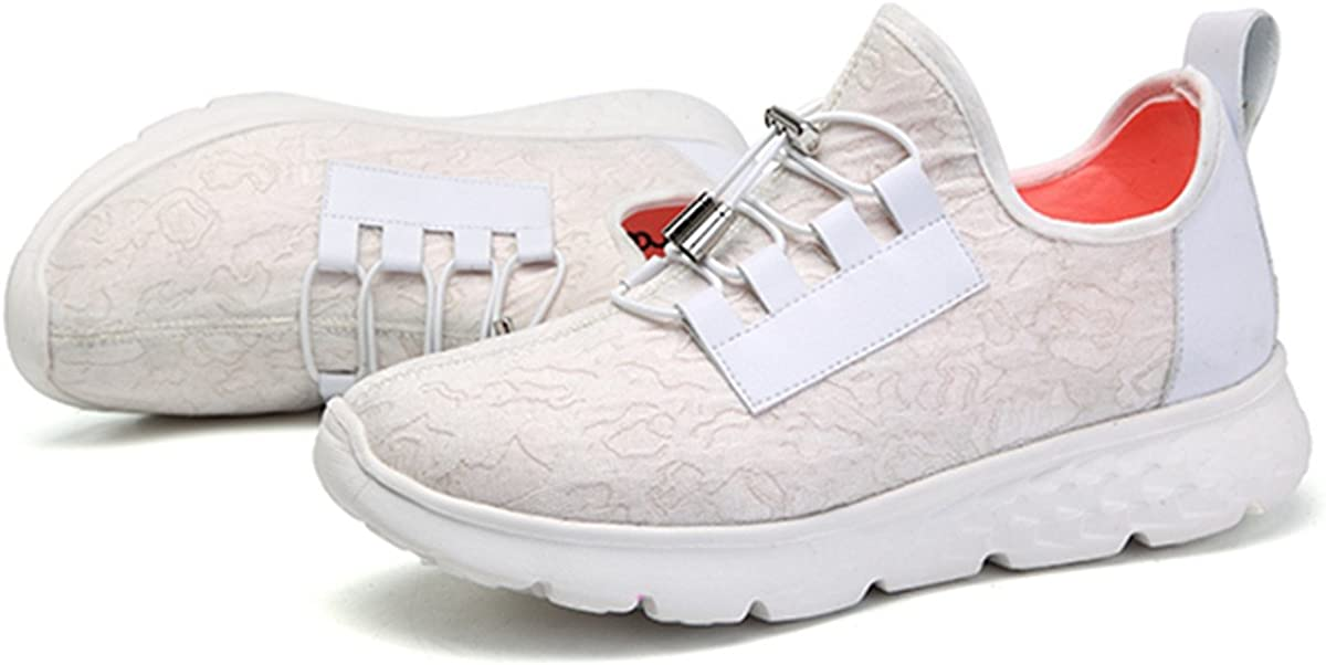 gracosy Flashing Sneakers, Women's USB Charging LED Light Shoes Casual Sport Sneaker for Christmas Halloween White