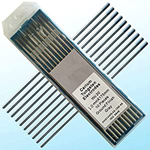 10 pcs of .040″ 7″(1.0175mm) Gray WC20,2% Ceriated Tungsten TIG Electrode (ETA:7-12 WORK DAYS)