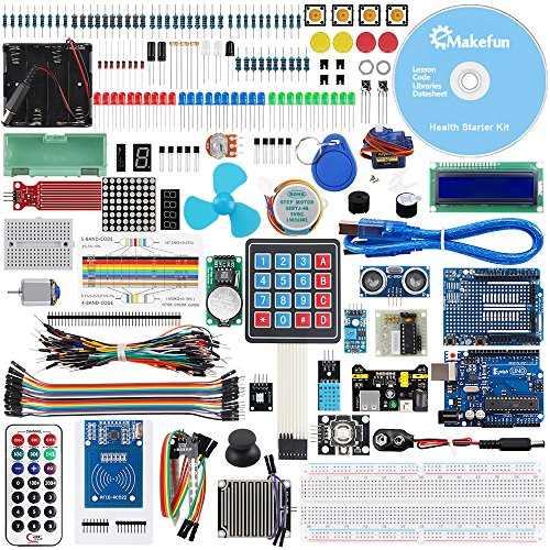 KeyWish Super RFID Sensor Starter Kit With Tutorial (28 Lessons) For Arduino UNO R3 With Rain Sensor Water-level Sensor Siol Humidity LCD1602 Screen Ultrasonic Sensor RGB (Kit 28 Pcs Match)