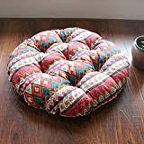 Thickened round cushion/cotton upholstery/tatami cushion-D 48x48cm(19x19inch)