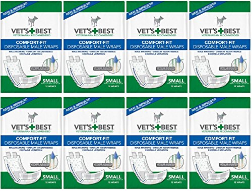 Veterinarian's Best Comfort-fit 12 Count Disposable Male Wrap, Small by Vet's Best by Vet's Best