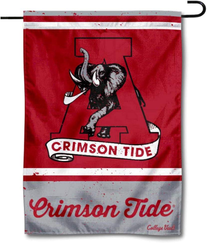 WinCraft Alabama Crimson Tide Vintage Retro Throwback Garden Flag