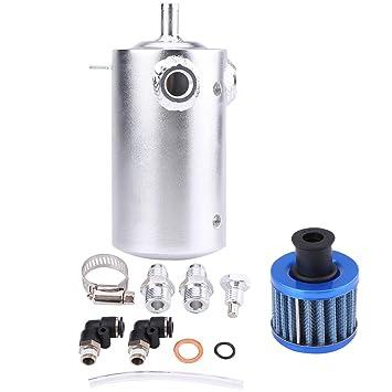 0,5 L depósito de aceite Catch Can Motor del Coche de aluminio universal Depósito