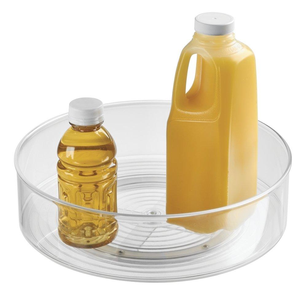 mDesign Lazy Susan plato giratorio – El práctico organizador de cocina para frigorífico, armario o