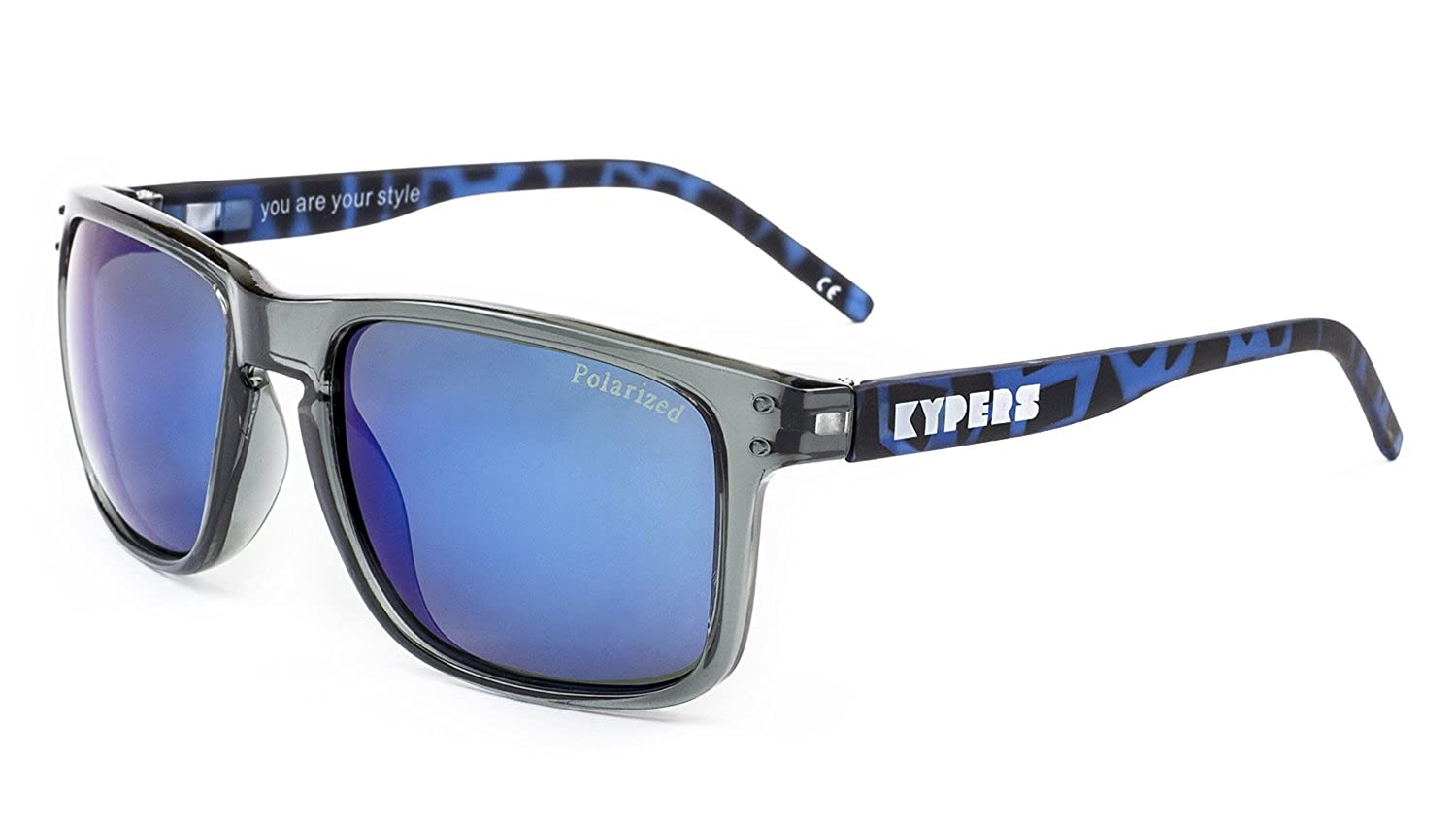 KYPERS Coconut Gafas de sol, Clear Grey - Blue Mirror, 57 Unisex