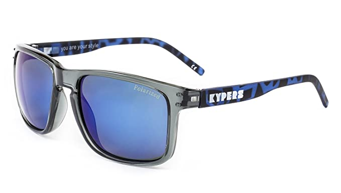 KYPERS Coconut, Gafas de Sol Unisex, Clear Grey-Blue Mirror, 57