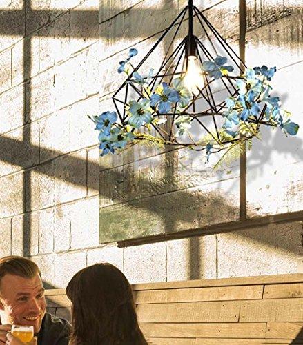 GAOLIQIN Iron Pendant Lamp, Creative Personality Simulation Plant Art Pendant Light,Theme Concert Bar Window Restaurant Decoration Chandelier (Size : 40CM) by GAOLIQIN (Image #4)