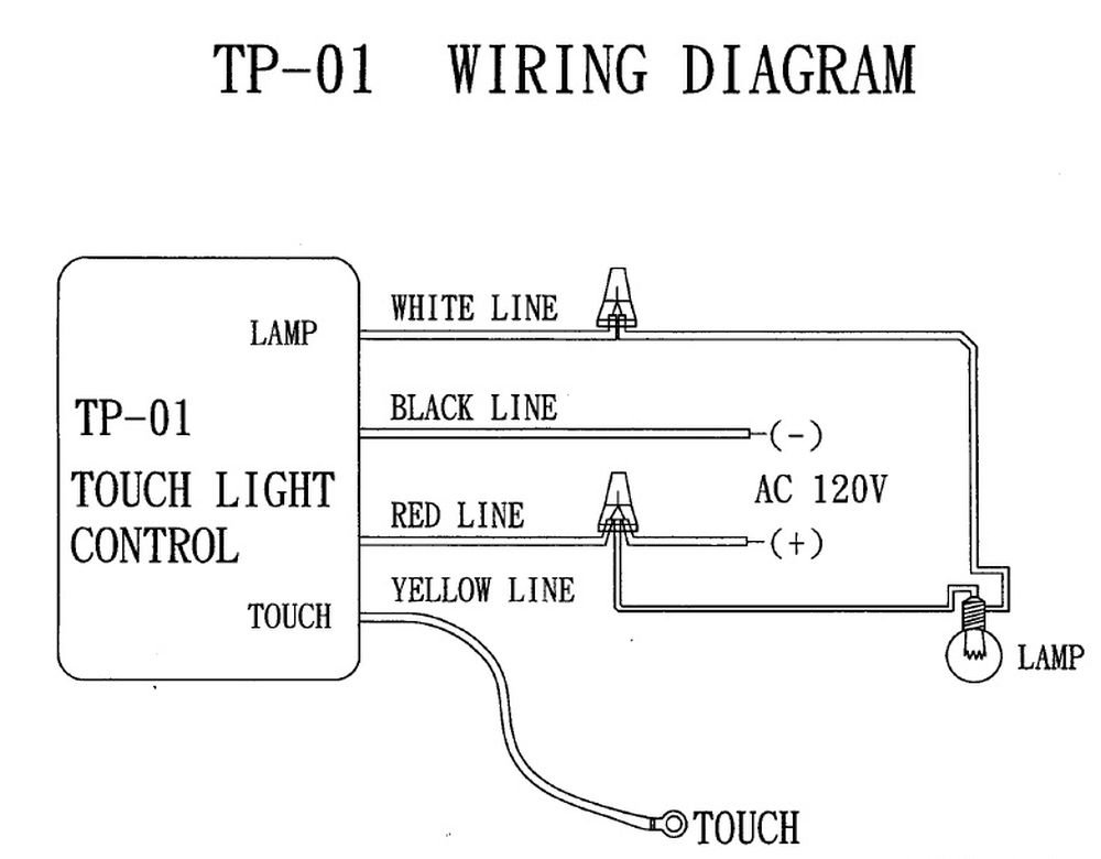 Zing Ear TP-01 ZH Touch Lamp Light Dimmer Switch Control Sensor Ok Lighting Touch Lamp Wiring Diagram on