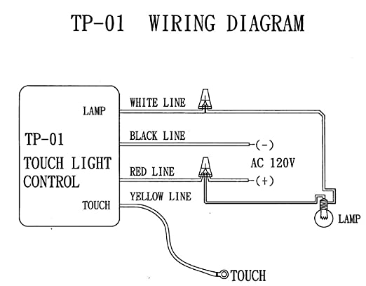 zing ear tp 01 zh touch lamp light dimmer switch control sensor rh amazon com 3-Way Switch Wiring Diagram Automotive Wiring Diagrams