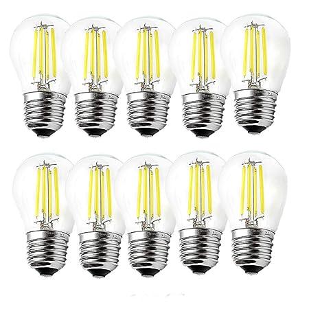 ougeer Pack de 10 LED E27 G45 bombilla de filamentos LED Retro bombillas de filamento 4