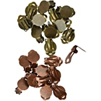 Baosity 24 Pieces Clip On Earrings with Pad for Gluing Findings DIY Jewelry Makings