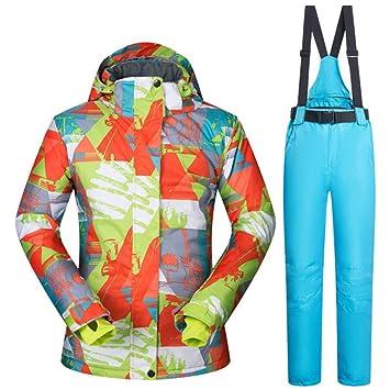 Zjsjacket Traje de Esqui Chaqueta de esquí y pantalón de Nieve Traje de esquí -30