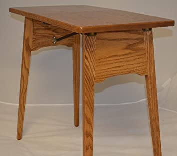 Amazon.com: Fireside Finished Oak Folding Table Handcrafted By The Amish  This Folding Oak Table Is A Must Have For Any Sewing Room.