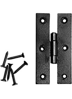 Cabinet Hinge Black Wrought Iron H Flush 3u0027u0027 H | Renovatoru0027s Supply