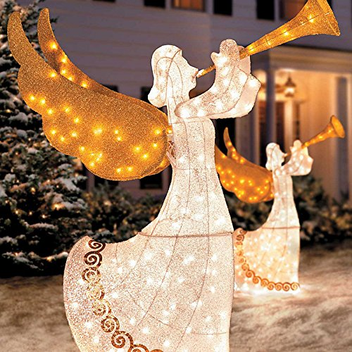 outdoor Christmas angel lighted and animated