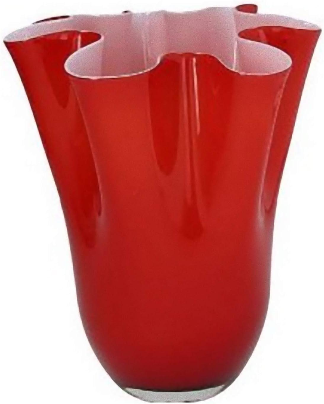 Andrea Fontebasso Vaso cm 27 Vetro Rosso Bizarre
