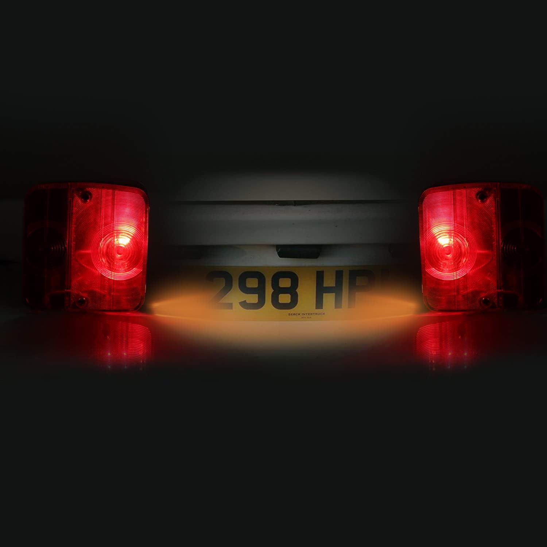 E-Mark Justech 2 x Luci Posteriori Impermeabile Fanali Posteriori Di Tipo Magnetico Super Luminoso 12V Universali per Auto Camion Trattore Caravan Rimorchi HGV