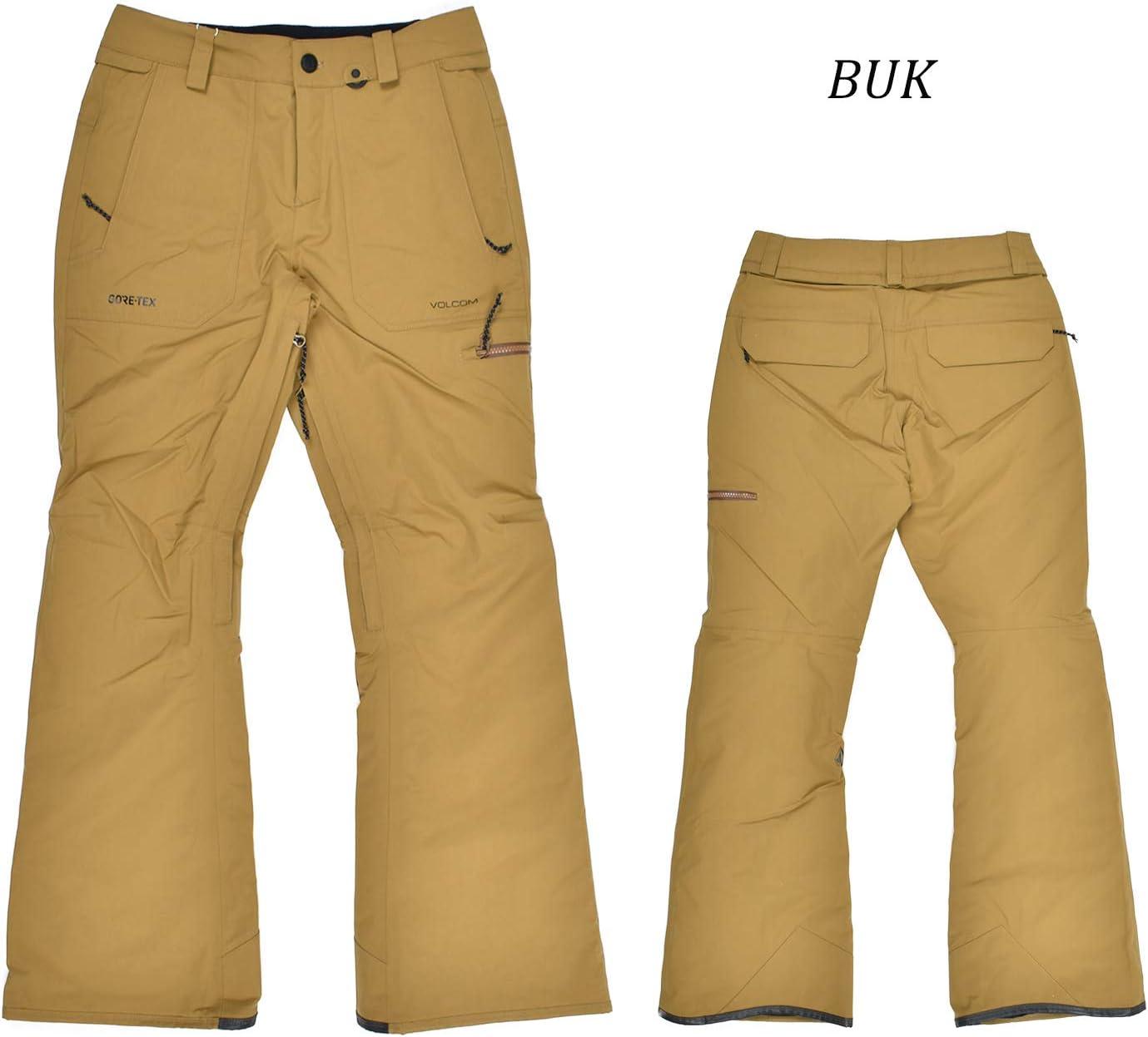 Volcom Knox Insulated Gore-Tex Snowboard Pants Womens Sz M Burnt Khaki