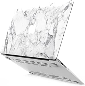 "IBENZER Neon Party Protective Case for 13"" Apple MacBook Air, White Marble"