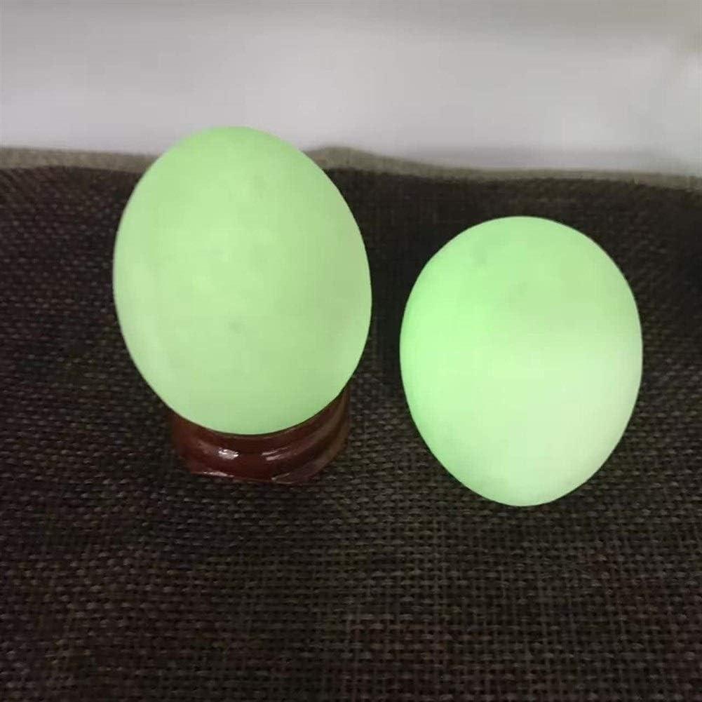 My youth 2pcs al por Mayor de 45mm Luminoso de Piedra Natural de la Bola Huevo luz Verde Oscuro Reiki Unique Home Decoración de artículos de menaje