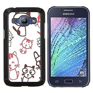 TECHCASE---Cubierta de la caja de protección para la piel dura ** Samsung Galaxy J1 J100 ** --Carácter