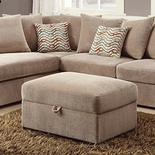 Coaster 500085 Home Furnishings Ottoman, Taupe