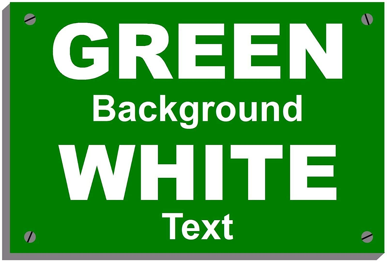 Riciclare rifiuti di giardino resistente alle intemperie Sign 5015 in alluminio, PVC o sticker 30cm x 40cm approx 12  x 16  Self Adhesive vinyl bianca on verde