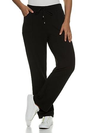 b59fe2c3fa7b22 Ulla Popken Damen große Größen bis 58+   Jerseyhose mit Quickdry    Rundum-Gummibund