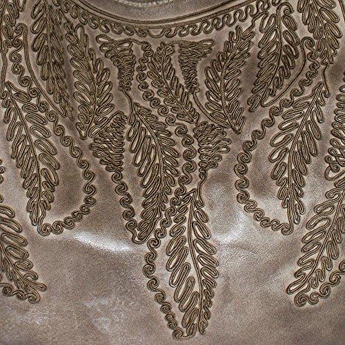 Reptile's House, Borsa a spalla donna beige Dark Corda, Taupe