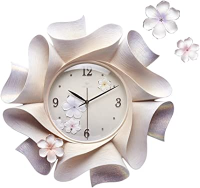 Wall Clocks Round Mute Silent Clocks and Watches Quartz Sweep Seconds Large Three-Dimensional DIY