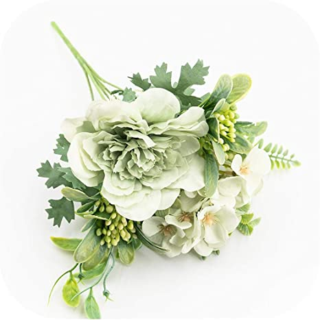 Artificial Flowers Fake Bouquet Flowers Green Plants Home Wedding Decorations