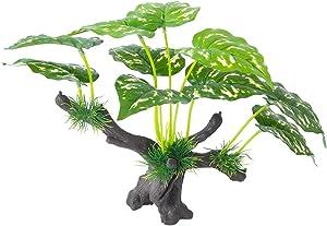 HITOP Aquarium Plastic Plants Decor, Plants Decorations for Fish Tank, Aquarium Artificial Ornament