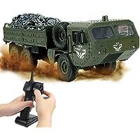 RC Military Truck, Remote Control Stunt Car 2.4G Radio RC Military Car for Kids, Entertainment, Transportation, Hand-Eye…