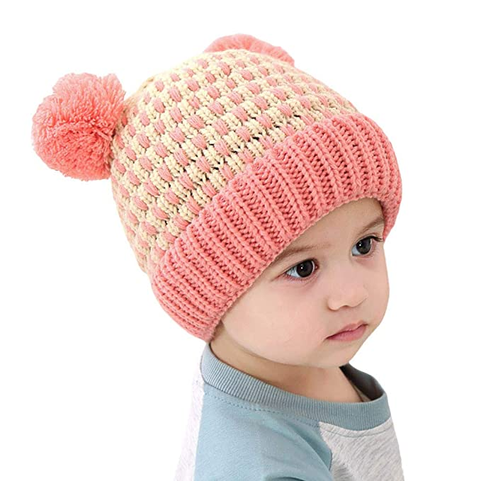 Amazon.com: Outtop(TM) Baby Knitted Headband for Kids Boys Girls Winter Warm Cotton Ball Cap Hats (Coffee): Clothing