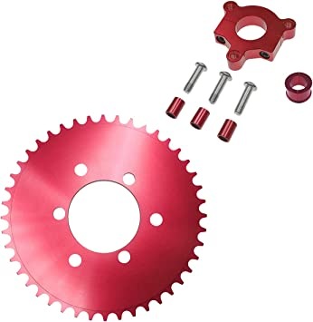 NAVARME 415 Chain Sprocket 1.5 40T Red CNC Adapter Motorized Bicycle 50cc 60cc 80cc