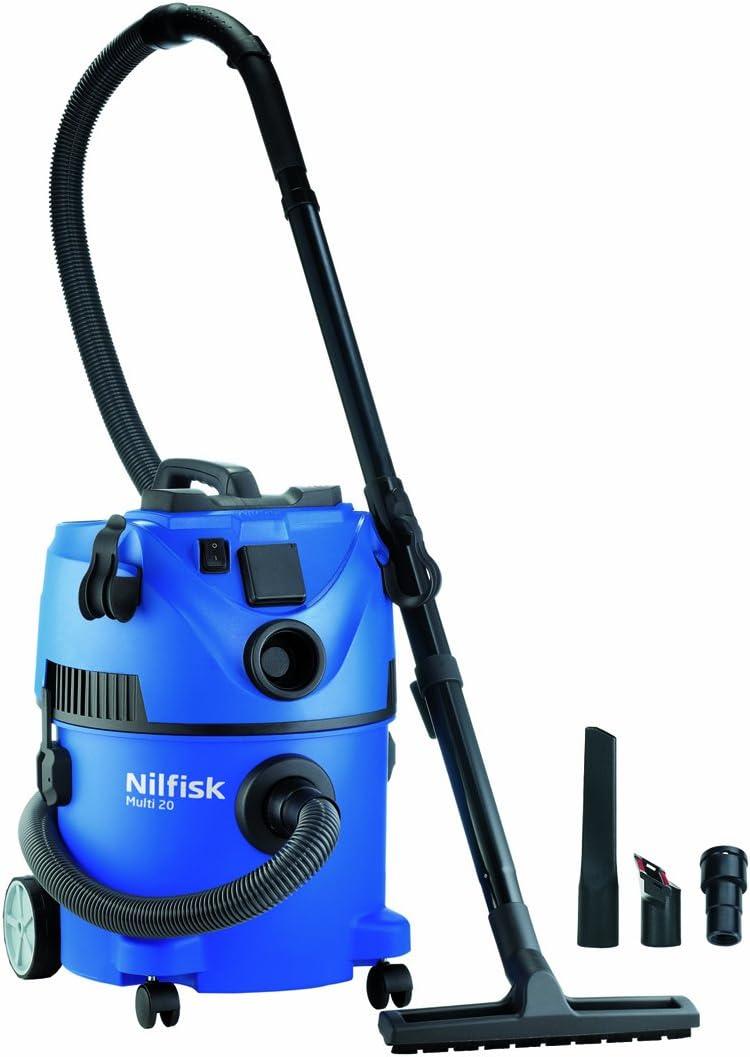 Nilfisk Multi 20 T Aspiradora en seco y húmedo, 1400 W, 20 litros, 65 Decibelios, Azul: Amazon.es: Hogar
