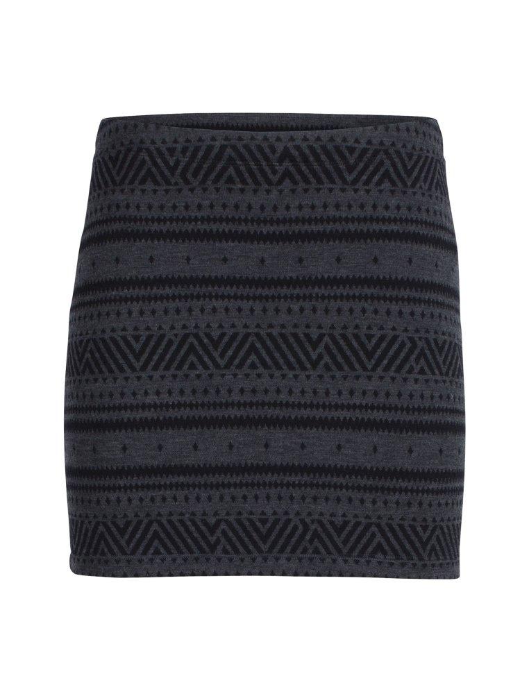 Icebreaker Merino Women's Vertex Skirt Icon fairisle, Jet Heather/Black, Medium