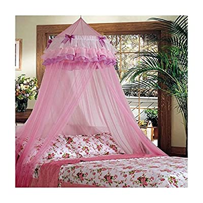 Elegant Lace Bed Mosquito Netting Mesh Canopy Princess Round Dome Bedding Top Selling Item