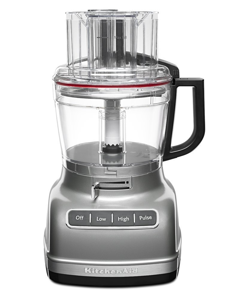 KitchenAid RKFP1133CU 11-Cup Food Processor with Exact Slice System (CERTIFIED REFURBISHED) Contour Silver