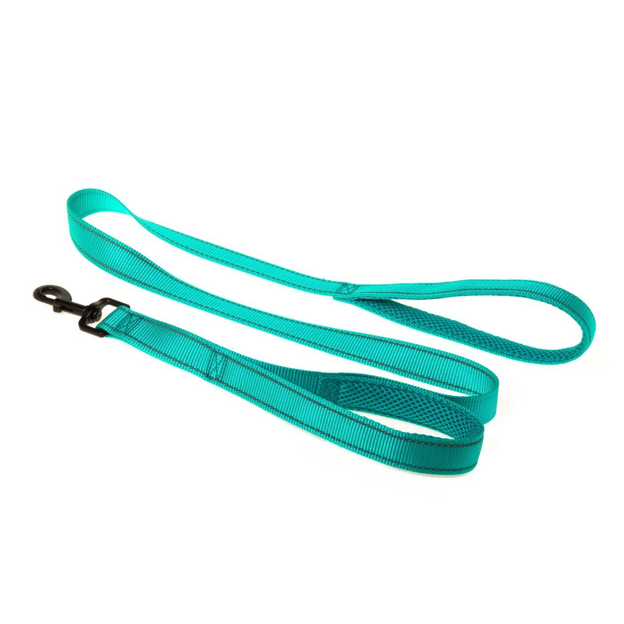 Darkturquoise Comsaf Double Control Dog Leash with Padded Traffic Handle 4 Ft Darkturquoise