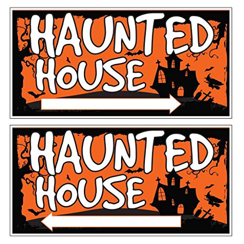 VictoryStore Haunted House Directional Sign - Includes Even Number of Right & Left Arrows - 12