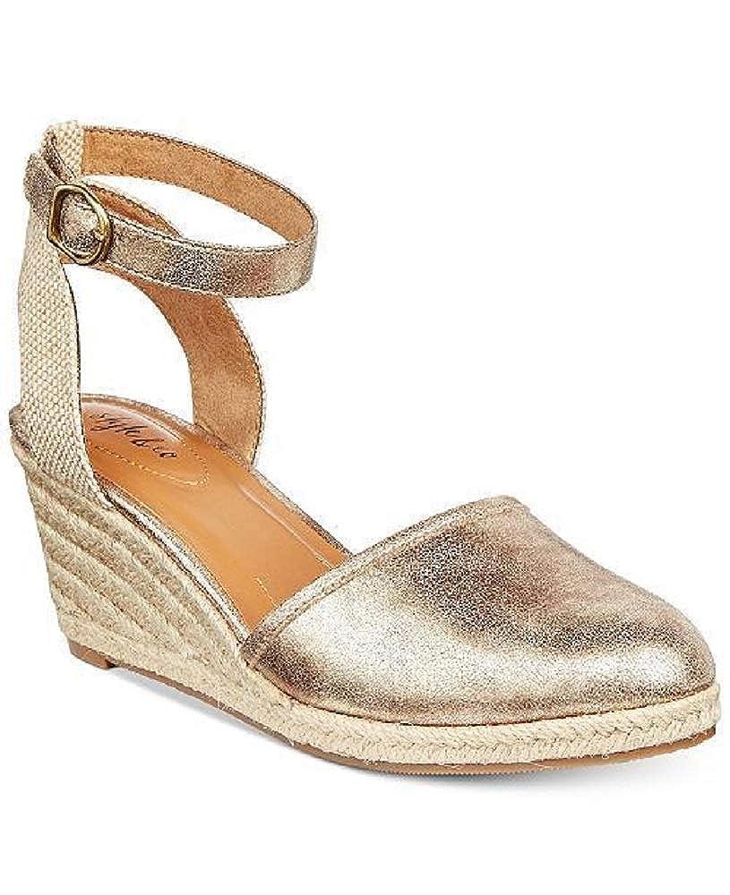 2dff7e0e07e Amazon.com | Style & Co. Mailena Wedge Espadrille Sandals Gold 6.5 M ...