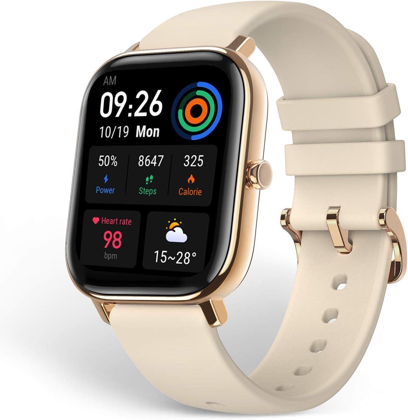 Amazfit GTS Reloj Inteligente Smartwactch Deportivo 14 días de Duración Batería GPS+Glonass Seguimiento Biológico BioTracker™ PPG Frecuencia Cardíaca 5ATM Bluetooth 5.0 iOS & Android (Gold)