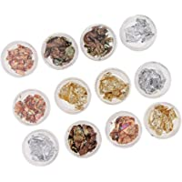 4Color Pattern Full Cover DIY Foil Nail Art Sticker 3D Nail Stickers Tool