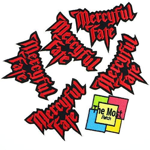 Lot of 6 (5+1) MERCYFUL FATE Heavy Metal King Diamond Embroidered Iron / Sew On (Power Ballads Halloween)