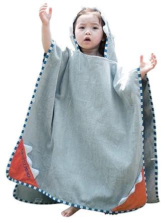 f063935f86 Amazon.com  Cartoon Hooded Bath Towel Cotton Terry Toddler Kid ...