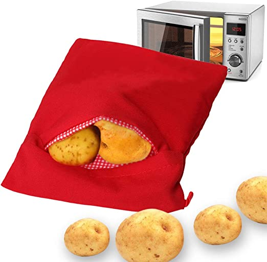 Gaocunh - Bolsa para microondas y patatas (lavable y reutilizable ...