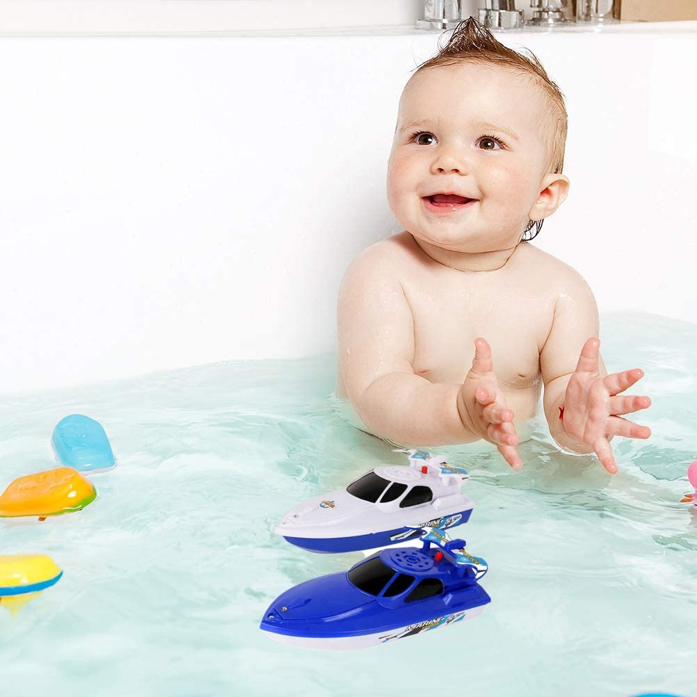Speedboat Bathing Toy Electric Motor Bathtub Shower Toy Kids Fun Water Toy for Toddlers Age 1 /& Up Floating Bath Toy Boat