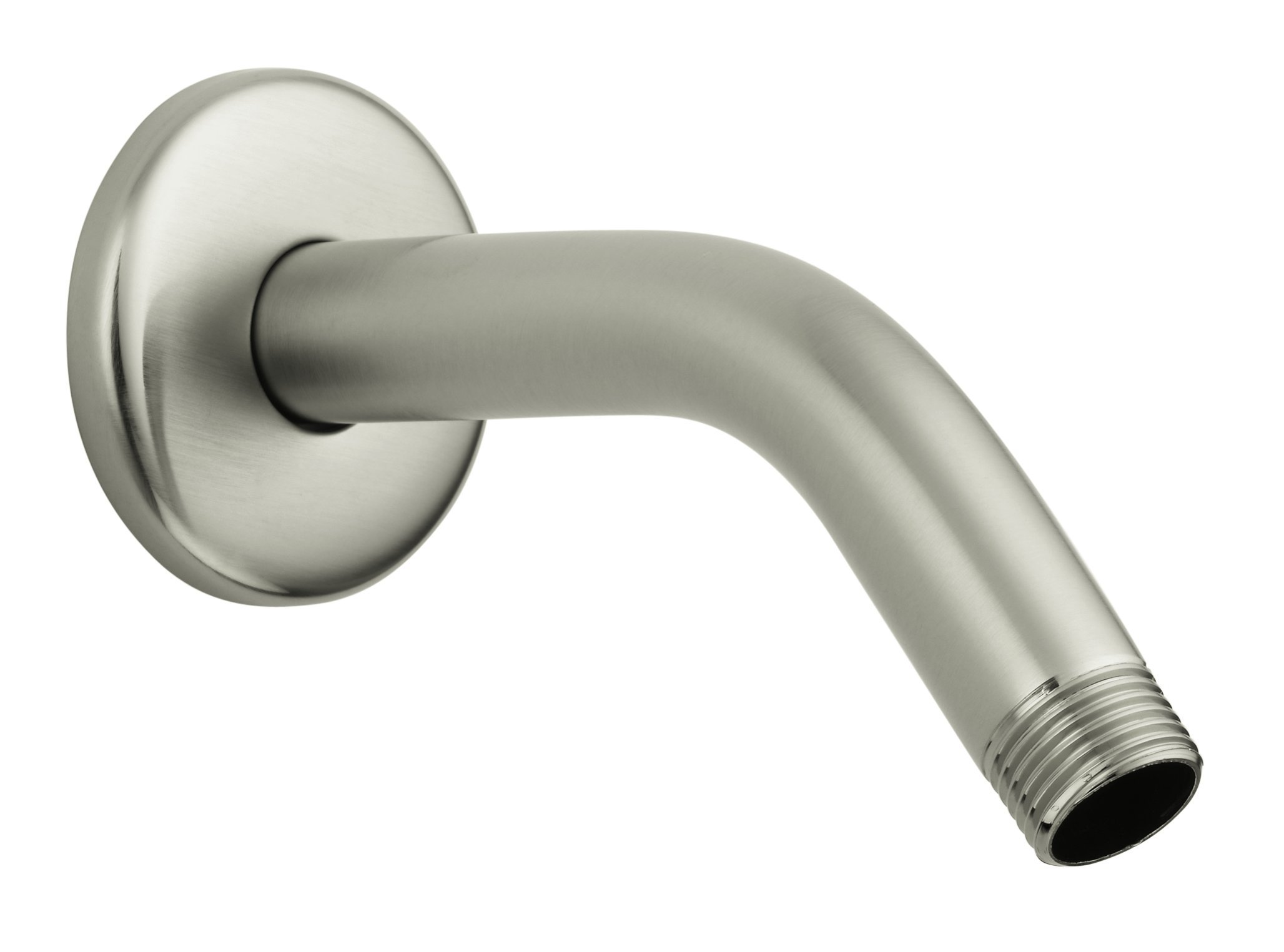 Hansgrohe 27411823 Standard Shower Arm and Flange, 6-Inch, Brushed Nickel